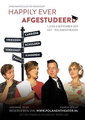 Jongemakerscollectief Happily ever afgestudeerd poster